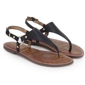 Sam Edelman Black Greta Thong Sandals